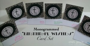 Monogrammed Cards – My Pink Stamper Design Team Day!