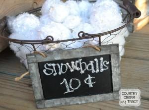 {Faux Snowballs}