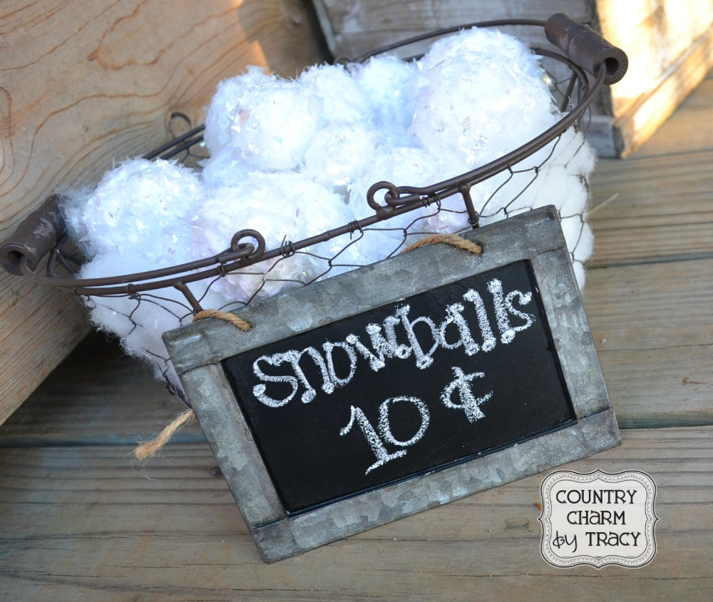 how to make artificial snowballs