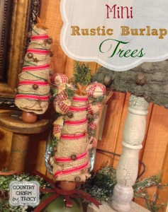 {Mini Rustic Burlap Trees}