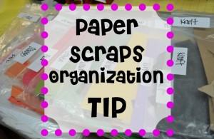 Paper Scraps Organization Tip
