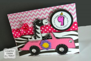 {Zebra Birthday Card} using Cricut Paisley Cartridge