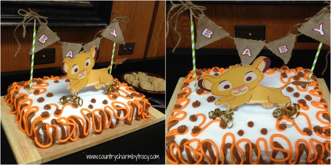 Baby Lion King Shower and Mini Diaper Cake Table Decoration Tutorial