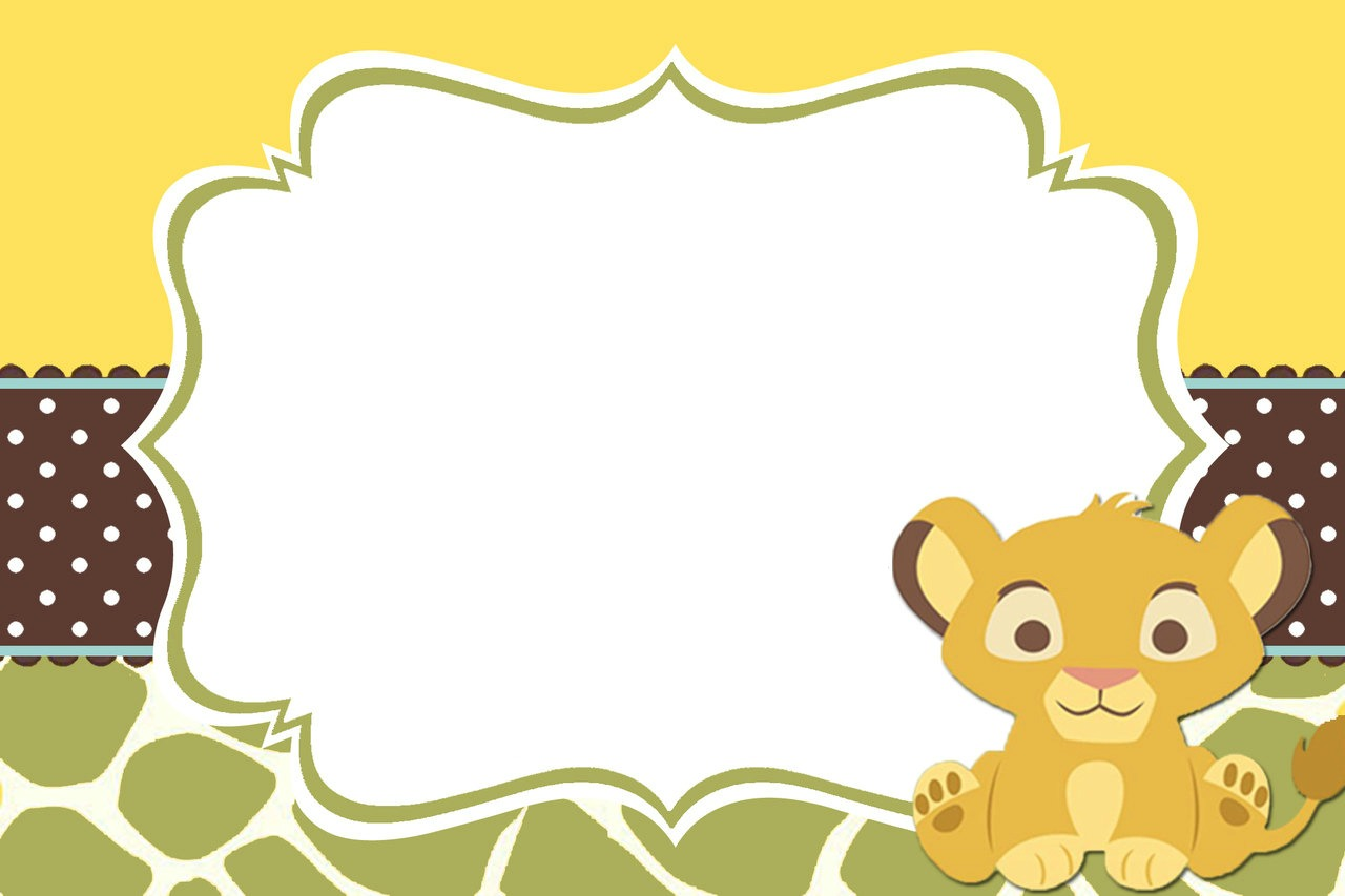 King Of The Jungle Baby Shower Invitations as best invitations sample
