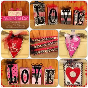 {Handmade & Handpainted} Valentine Home Decor