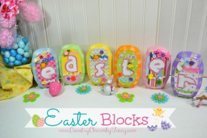 Wood Easter Blocks