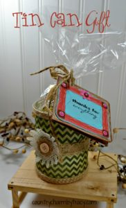 ♥ Decorate a Tin Can and Make a Pretty Gift!