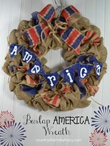 ♥ Burlap {America} Wreath