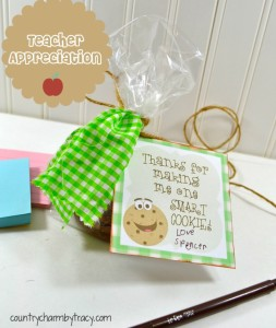 ♥ One Smart Cookie ~ Teacher Appreciation Gift with Free Printable!