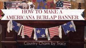 ♥ Americana Burlap Banner with Free Template & Video Tutorial