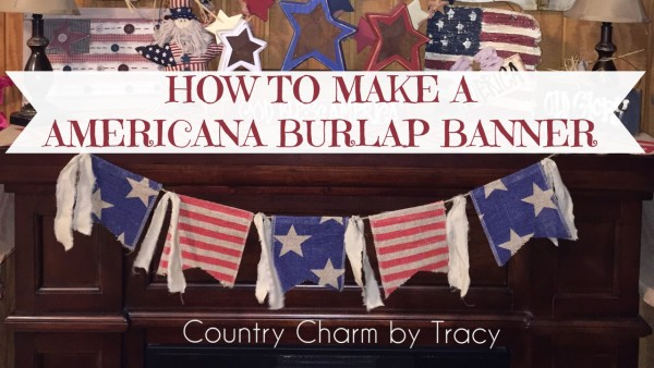 Americana Burlap Banner With Free Template Video Tutorial