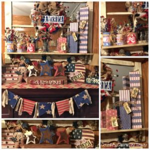 ♥ Americana Mantel Decor 2015