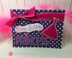 ♥ Happy Birthday Princess Card | Using Extra Cricut Cuts ♥