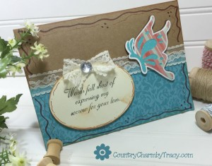 {Butterfly Sympathy Card} using Cricut Explore