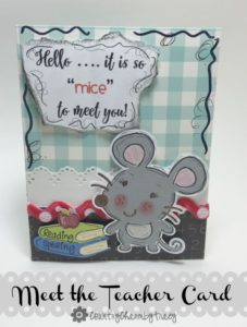 "It's ""Mice"" to Meet You ~ Teacher Card"