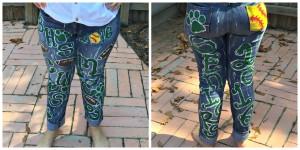 Handpainted School Spirit Jeans