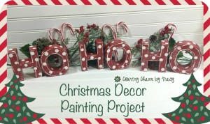 HO HO HO Paper Mache Christmas Handpainted Blocks