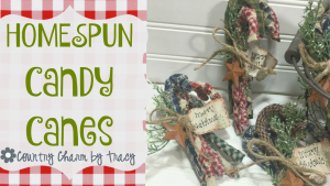 {HOMESPUN Candy Canes} Home Decor & a Give-away! {CLOSED}