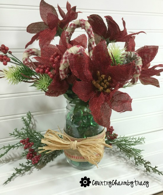 Simple Rustic Christmas Arrangement Using Dollar Tree Flowers By Tracy