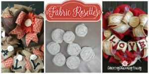 How to Make Fabric Rosettes Step by Step with Video Tutorial