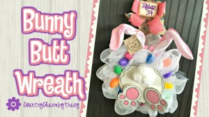 {Bunny Butt Wreath} ~ Someone Fell into the Jelly Beans Pot!