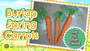 Burlap Spring Carrots Using Tissue Paper