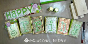 Happy Spring Wood Blocks