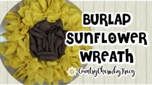 Burlap Sunflower Wreath