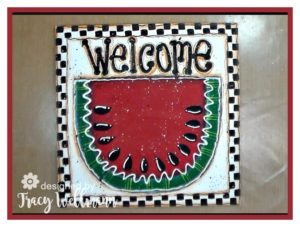 Watermelon Welcome Board ~ Paint with Me Step by Step Video!