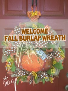 Happy Fall Y'all Polka-Dot Burlap Wreath