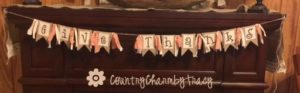 GIVE THANKS Banner || How to use your Favorite Font and Paint it Yourself!