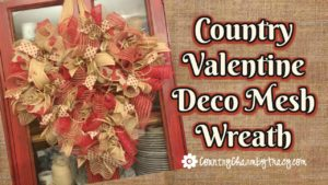 Country Valentine Heart Deco Mesh Wreath