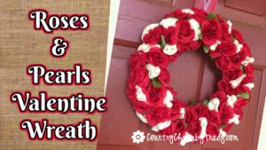 Roses & Pearls Valentine Wreath