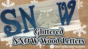 Glittered SNOW Letters || Creating Beautiful Wood Decor