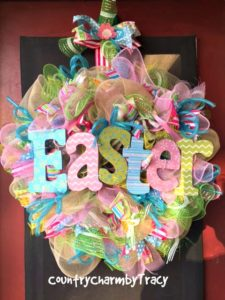 Easter Mesh Wreath Inspiration