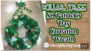 Dollar Tree St. Patrick's Day Carnation Wreath