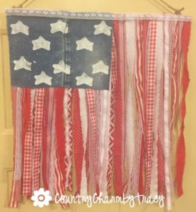 How to Make a Ribbon Flag | Patriotic Home Decor