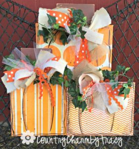 Square Pumpkins Home Decor || Made with Canvases