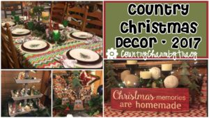 Country Christmas Decor 2017