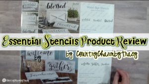 Wood Sign Stencils || Essential Stencils Product Review