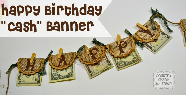 happy birthday  u0026quot cash u0026quot  banner gift  for the hard to buy