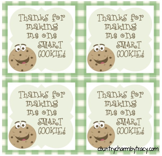 image relating to Smart Cookie Printable known as ♥ A person Intelligent Cookie ~ Instructor Appreciation Reward with Cost-free