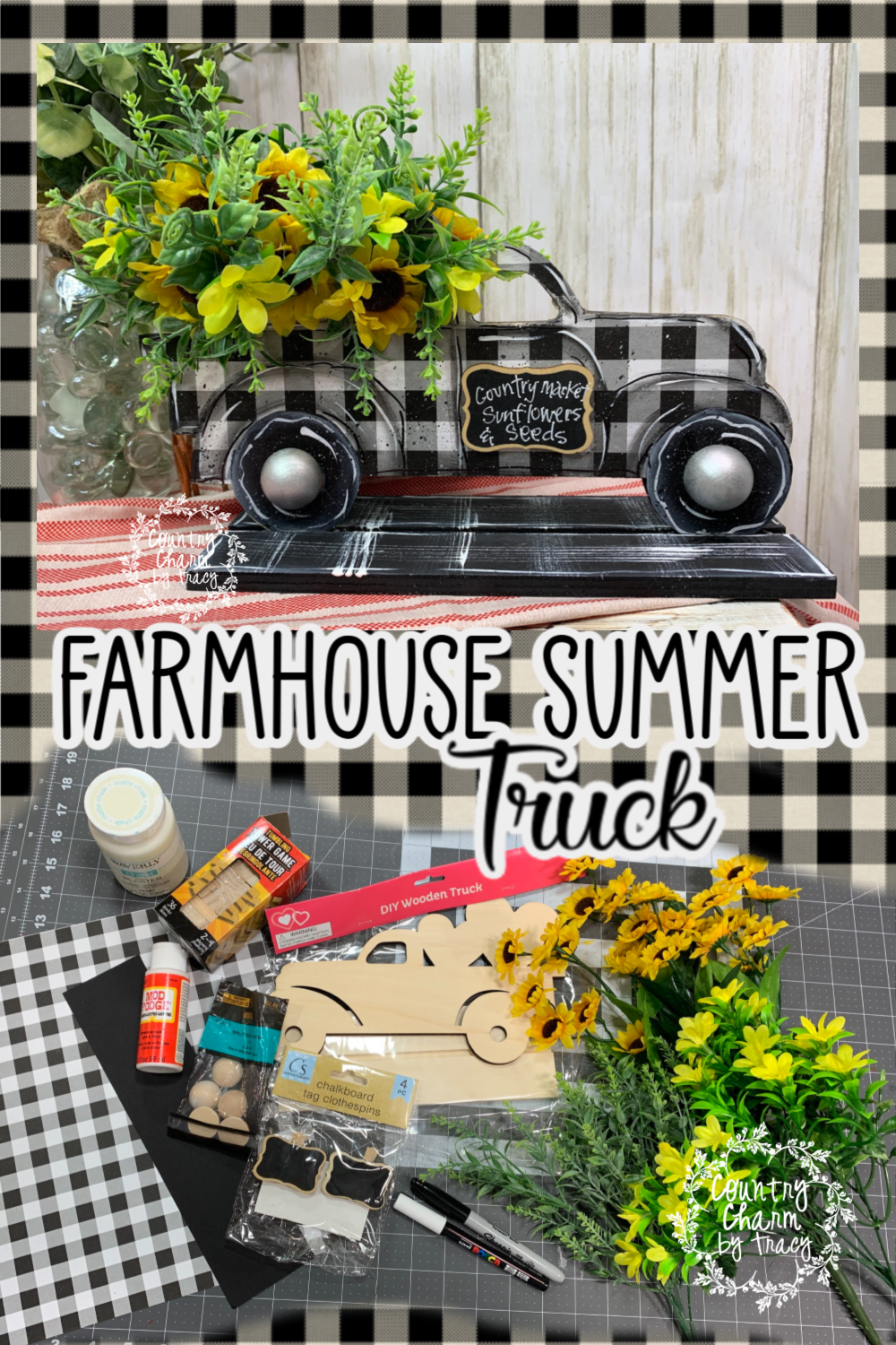 Farmhouse Summer Truck Dollar Store Crafts Country Charm By Tracy